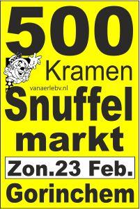 500 kramen snuffelmarkt zondag 23 februari Gorinchem